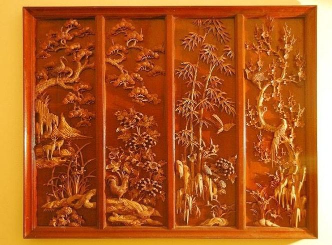 'Bí Mật' về cách treo tranh gỗ tứ quý Tùng Cúc Trúc Mai để nhà bạn luôn đầy ắp tài lộc
