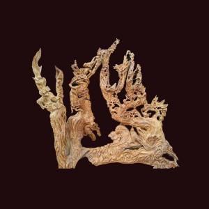 Thập điểu quần mai gỗ lũa ngọc am Hà Giang 117x120x37cm
