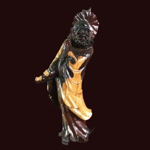 Tượng Đạt Ma quá hải gỗ Trắc 75x35x20cm