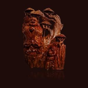 Tượng Di Lặc gỗ sụn Hương đá 52x16x36cm