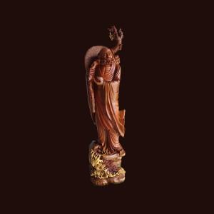 Tượng đạt ma gỗ cẩm chỉ 146x40x35cm