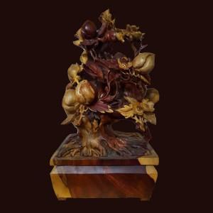 Chậu Đào Bonsai gỗ Cẩm chỉ 48x31x21cm
