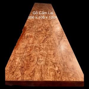 Mặt Bàn Gỗ Cẩm Lai Nam Phi Nguyên Tấm 506x108x12cm