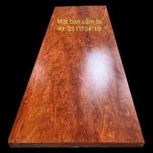 Mặt Bàn Gỗ Cẩm Lai Nam Phi Nguyên Tấm 251x104x10cm
