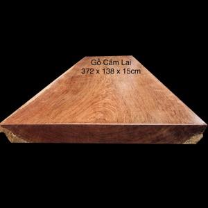 Mặt Bàn Gỗ Cẩm Lai Nam Phi Nguyên Tấm 372x138x15cm