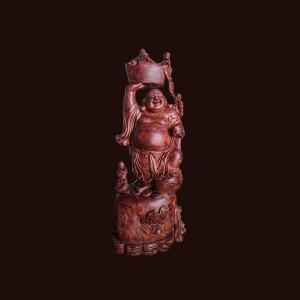 Tượng Di Lặc gỗ sụn cẩm lai 80x31x23cm