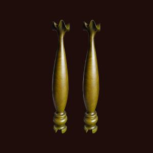 Lộc bình tỳ bà gỗ đổi màu 120x18cm