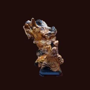 Tượng Đạt Ma Sư Tổ gỗ sụn hương 62x40x30cm
