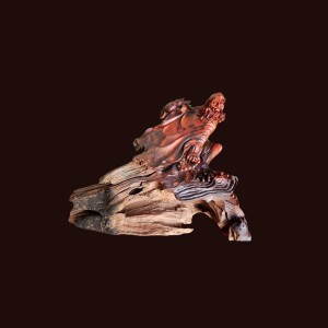 Tượng Đạt Ma gỗ trắc 55x35x40cm