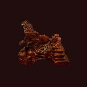 Tượng Đạt Ma gỗ hương Gia Lai 51x55x33cm