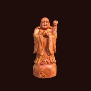 Tượng Di Lặc chúc phúc gỗ hương 80x33x30cm