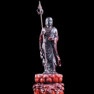 Tượng Địa Tạng Bồ Tát Đứng Gỗ Tử Đàn 60x23x19cm