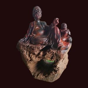 Tượng Thần Trà gỗ Trắc 32x22x23cm