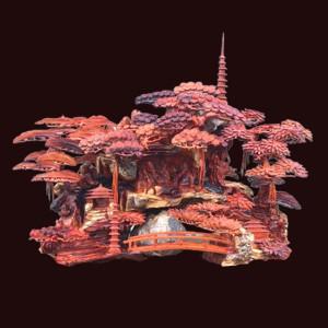 Tượng Bát Tiên gỗ Hương KT: 153x125x55cm