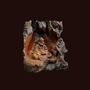 Tượng Đạt Ma thiền gỗ nu sụn hương Gia Lai