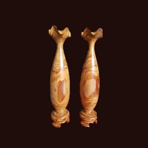 Tỳ bà Gỗ Thủy Tùng Vàng Đắc Lắc 45x10cm
