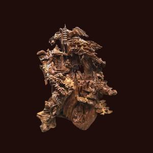 Tượng Bát Tiên gỗ bách xanh 142x112x62cm