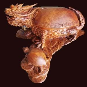 Long quy mẫu tử gỗ hương 36x56x62cm