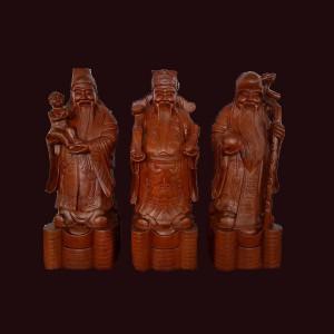 Tượng Tam Đa gỗ hương Gia Lai 70x25x23cm