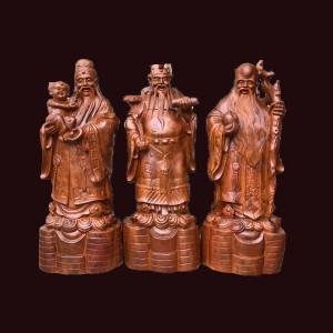 Tượng Tam Đa gỗ hương Gia Lai 50x20x16cm