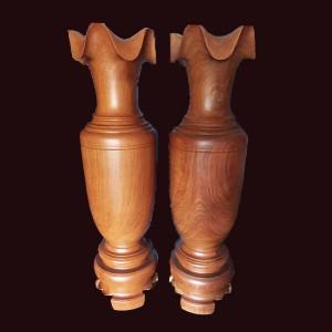 Lộc bình gỗ gõ đỏ Gia Lai 160x45cm