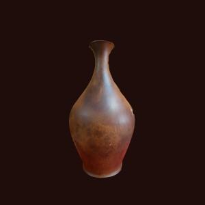 Bình phú quý gỗ hương nu Gia Lai 47x27cm