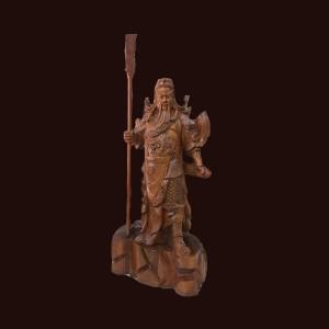 Tượng Quan Công gỗ hương 160x56x40cm