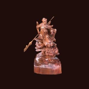 Tượng Quan Công gỗ hương 60x30x20cm