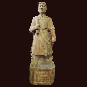 Tượng Trần Hưng Đạo gỗ hương nhập khẩu 90x30x30cm