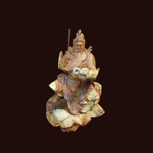Tượng Quan Công gỗ hương Gia Lai 42x31x23cm