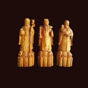 Tam đa gỗ gõ vàng 60x20x17cm