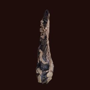 Tượng Đạt Ma gỗ mun sừng 101x35x23cm