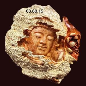 Diện phật gỗ nu Hương Kt: 68x68x15cm