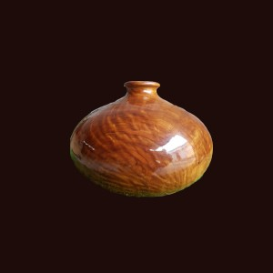 Bình phú quý gỗ sụn dổi 20x14cm