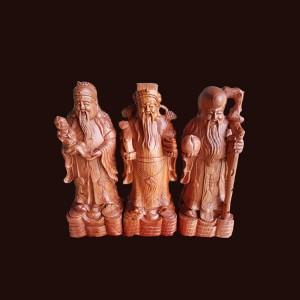 Tượng Tam Đa gỗ hương 50x19x16cm