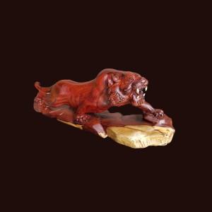Tượng hổ gỗ cẩm chỉ 67x23x17cm