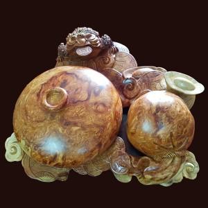 Bình phú quý gỗ Nu sụn hương 16x48x47cm