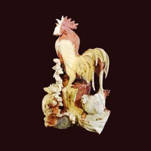Tượng gia đình gà gỗ hương Gia Lai 45x30x30cm