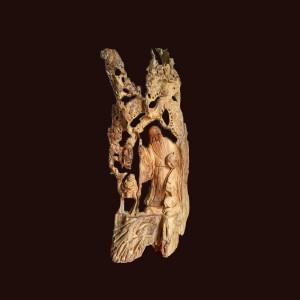 Tượng Ông Thọ gỗ ngọc am 90x40x16cm