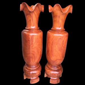 Lộc Bình Gỗ Hương Gia Lai Siêu Vip 170x44cm