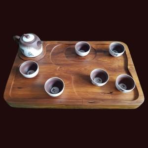 Khay trà gỗ Bách Xanh 50x31x5,5cm