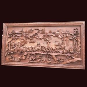 Tranh Vinh Quy Bái Tổ Gỗ Hương  Kt: 217x117x9cm