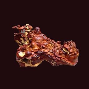 Tượng Di Lặc gỗ sụn hương Gia Lai 52x100x52cm