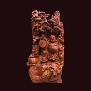 Tượng Di Lặc gỗ hương Gia Lai 112x56x36cm