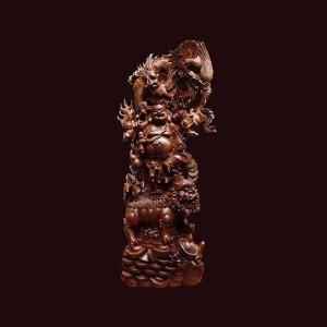 Tượng Di Lặc gỗ bách xanh Sơn La 186x70x38cm