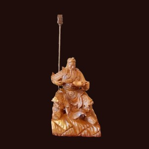 Tượng Quan Công gỗ cẩm chỉ Gia Lai 42x28x28cm