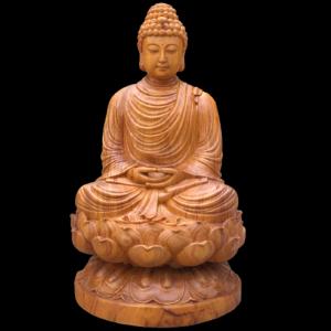Tượng Phật Thích Ca Gỗ Hương Đá 50x25x25cm