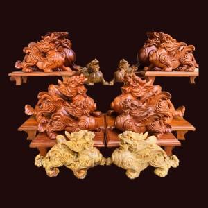 Tượng Tỳ Hưu Gỗ Hương Dài 22, 27, 30, 49cm