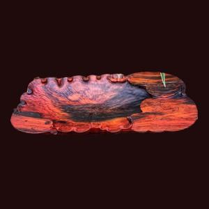 Khay Trà Gỗ Trắc Đỏ Đen 52x29x6cm