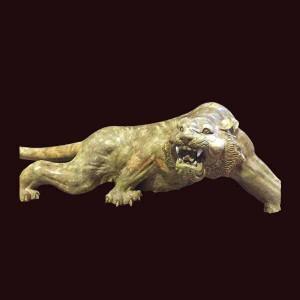 Tượng hổ gỗ nu nghiến 50x55x140cm